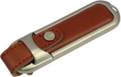 Zwarte Onderwijsgadgets USB-stick echt leer bruin 16GB
