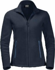 Donkerblauwe Jack Wolfskin Moonrise JKT Dames Outdoorvest - Midnight Blue - Maat L