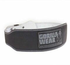 Gorilla Wear 4 Inch Gevoerde Lederen Halterriem - Gewichthefriem - Krachttraining - Zwart - 2XL/3XL
