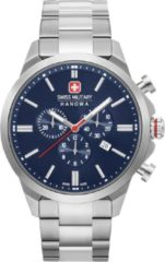 Zilveren Swiss Military Hanowa watches chronograaf herenhorloge Chrono Classic II 06-5332.04.003