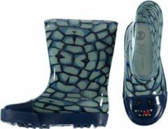 Blauwe Merkloos / Sans marque Kinder jongens regenlaarzen met krokodillen print 27