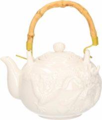 Witte Merkloos / Sans marque Chinese Theepot Chinese draak met zeefje 1 liter