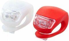 Huismerk Premium Fietslampenset 1x Wit,1 x Rood - 2 stuks
