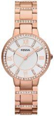 Fossil ES3284 Horloge Virginia staal rosekleurig 30 mm