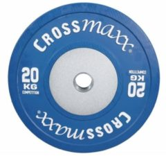 Blauwe Lifemaxx Crossmaxx Competition Bumper Plate - 50 mm - 20 kg