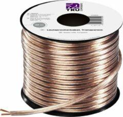 Transparante TRU COMPONENTS 1564533 Speaker cable 2 x 1.50 mm² Transparent 30 m