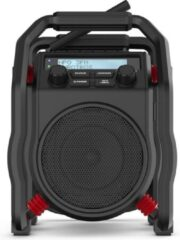 Zwarte PerfectPro UBOX400R Workplace radio DAB+, FM Bluetooth, AUX, DAB+, FM shockproof Black