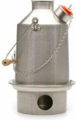 Zwarte Kelly Kettle Medium 'Scout' 1.2ltr - Stainless Steel NEW