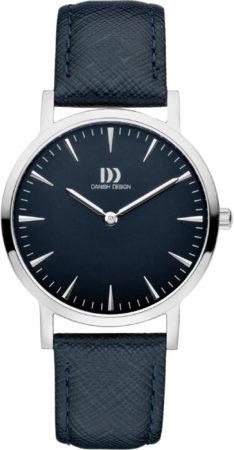 Afbeelding van Zilveren Danish Design watches edelstalen dameshorloge London Blue Silver Medium IV22Q1235
