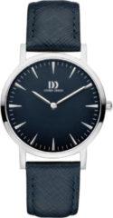 Zilveren Danish Design watches edelstalen dameshorloge London Blue Silver Medium IV22Q1235