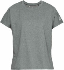 Grijze Under Armour Recovery Tee Sportshirt Dames - Pitch Gray Medium Heather - Maat XS