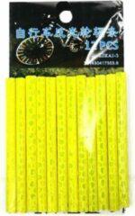 WiseGoods - Fietsreflector - Spaakreflectoren - Reflector Fiets - Spaakverlichting - 12 Stuks - Fiets accessoires - Geel