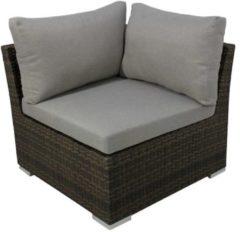 Gardissimo Alu/Geflecht Lounge-Eckteil Vilorio Gardissimo bicolor-mocca