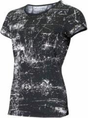 Sjeng Sports Plus Size sport T-shirt Isabella Plus zwart/wit
