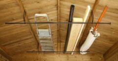 Zwarte Mottez Opbergsysteem MULTI voor tuinhuis