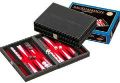 Rode Generic Backgammon Kunstlederen Koffer Rood Velours - 23 x 16 cm