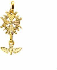 Gele Kasius Trendjuwelier huiscollectie 4005501 Gouden bedel Hugenotenkruis