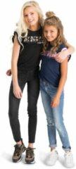 Zwarte Vingino T-shirt Hulia Meisjes T-shirt Maat 152