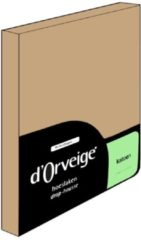 Zandkleurige D'Orveige D´Orveige Hoeslaken Katoen - eenpersoons - 90x200 cm - Zand