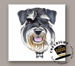 Heads Tegel Hond Miniatuur Schnauzer