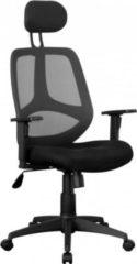 Amstyle AMSTYLE Bürostuhl FLORENZ 2 Stoffbezug Schreibtischstuhl 120 kg Armlehne schwarz Chefsessel Drehstuhl Kopfstütze X-XL