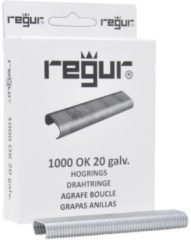 Regur OK 20 eyelet clamps galvanized 1000 pc(s) Regur 60714 Dimensions (L x W x H) 10 x 90 x 23 mm