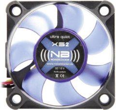 NoiseBlocker BlackSilent XS2 PC-ventilator Zwart, Blauw (doorschijnend) (b x h x d) 50 x 50 x 10 mm