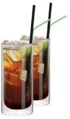 Transparante Cocktailglazen voor Cuba Libre Dubbelwandig, set van 2 - Maxxo