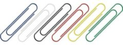 Merkloos / Sans marque 125 stuks gekleurde paperclips 26 mm