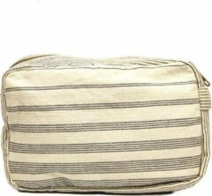 Gebroken-witte ANNA NERA Fairtrade Toilettas - Beautycase - Make up Tasje - Toiletry bag Shades M 21x13,x7 cm