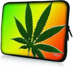 Groene False Sleevy 17,3 laptophoes wiet - Laptop sleeve - Macbook hoes - beschermhoes