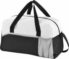 Merkloos / Sans marque Duffel bag zwart/wit 43 cm - Duffeltassen voor op reis - Weekendtassen/sporttasen