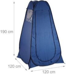 Relaxdays Pop Up Tent 190X120X120 - Blauw - 1 Persoons