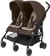 Bruine Maxi-Cosi Maxi Cosi Dana For2 Kinderwagen - Nomad Brown (Black Frame)