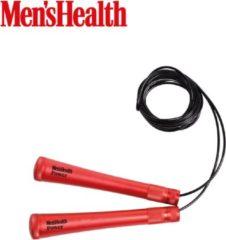 Rode Men's Health Speed Rope + - Crossfit - Oefeningen - Fitness gemakkelijk thuis - Fitnessaccessoire