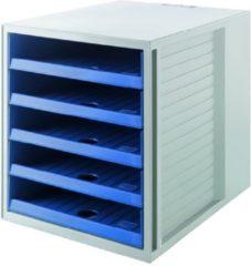 Blauwe Ladenkast HAN Karma Eco met 5 open Laden blauw
