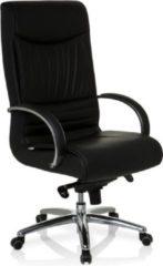 Hjh office Bureaustoel XXL - Met Armleuning - Lange/Zware Mensen - Leder - Zwart - Ergonomisch