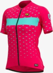 Donkerrode Alé ALE Lady Short Sleeve Jersey Graphics PRR Stars Strawberry-Turquoise L