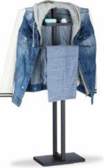 Relaxdays dressboy zwart - kledingstandaard - kledinghanger en broeklat - staal