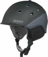 Zwarte Sinner Stoneham Unisex Skihelm - Matte Black/Grey - XL/62 cm