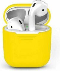 Teishop Siliconen case geschikt voor Apple Airpods - Geel