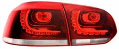 Universeel Set R-Look LED Achterlichten Volkswagen Golf VI 2008-1212 excl. Variant - Rood/Helder