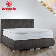 Breckle Boxspringbett Arga Palace 180x220 cm inkl. Gel-Topper Platin Premium
