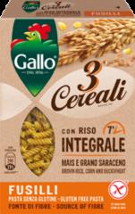 RISO GALLO SpA Riso Gallo Fusilli 3 Cereali Pasta Senza Glutine 250g