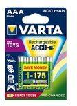 Varta Accu Toy - Batterie 4 x AAA-Typ NiMH 800 mAh 56783101404