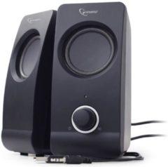 Gembird SPK-DU-01 2.0 PC-luidsprekers Kabelgebonden 6 W Zwart