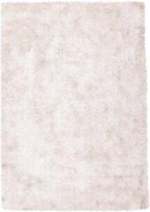 Roze Diamond Soft Rond Vloerkleed Creme Hoogpolig - 120 CM Rond