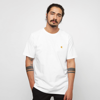 Witte Carhartt Wip S/s Chase T-shirt White / Gold L