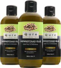 Qure Natural Oil Hennepzaadolie | 100% Puur en Onbewerkt (100ml) | Hennepzaad Olie eetbaar, voor huid en haren