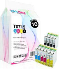 Inktdag huismerk Epson T0715 Multipack inktcartridges, 10 pack (4 zwart, 2 cyaan, 2 magenta, 2 geel)